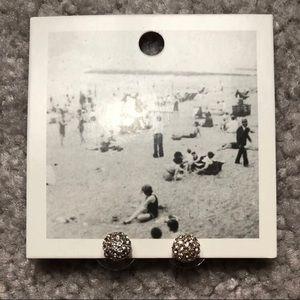 Anthropologie Goldtone Disco Ball Earrings